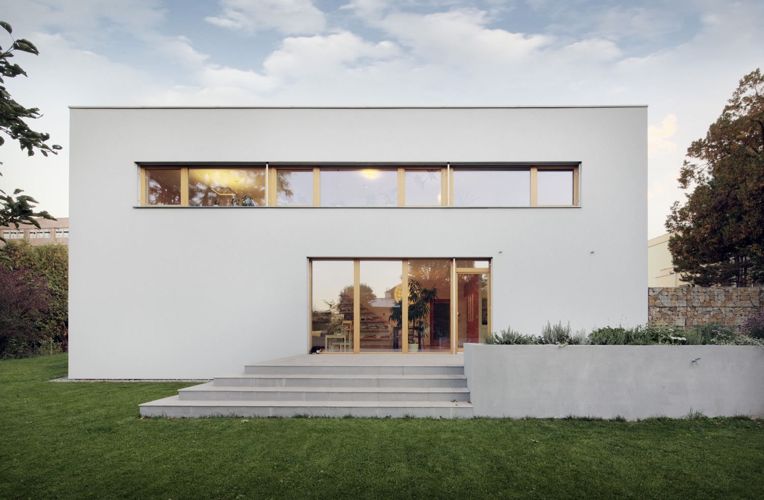 Contemporary estate with lift and slide door from Chablais